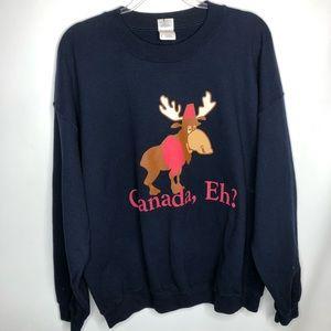Vintage Canada EH moose sweatshirt oversized XL